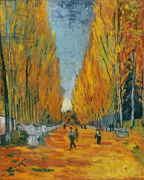 L'Allee des Alyscamps, Arles, 1888 (oil on canvas)