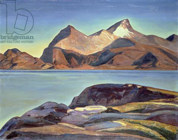 Silmilik Fjord, West Greenland, 1929 (oil on canvas)