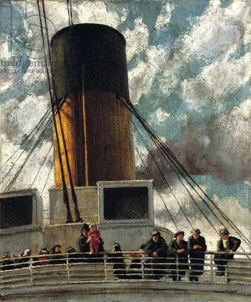 Emigrants, 1926 (oil on canvas)