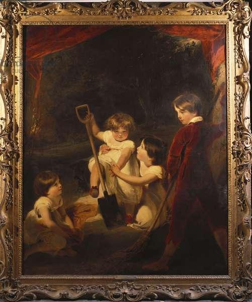 The Children Of John Angerstein, M.P. (oil on canvas)