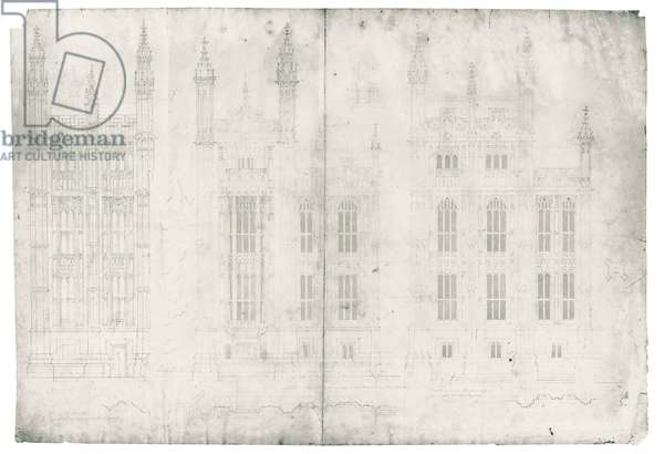 Drawing for the Houses of Parliament, c.1836-40 (pen & ink on paper)