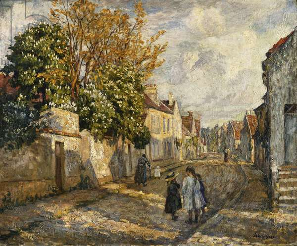 Street Scene, Lagny; Scene de Rue, Lagny, (oil on canvas)