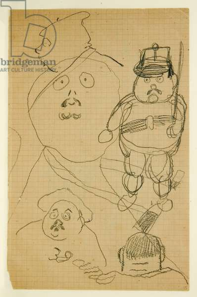 Drawing from an album of drawings produced for the young Jacques Bousquet, 1889-90 (pencil on paper)