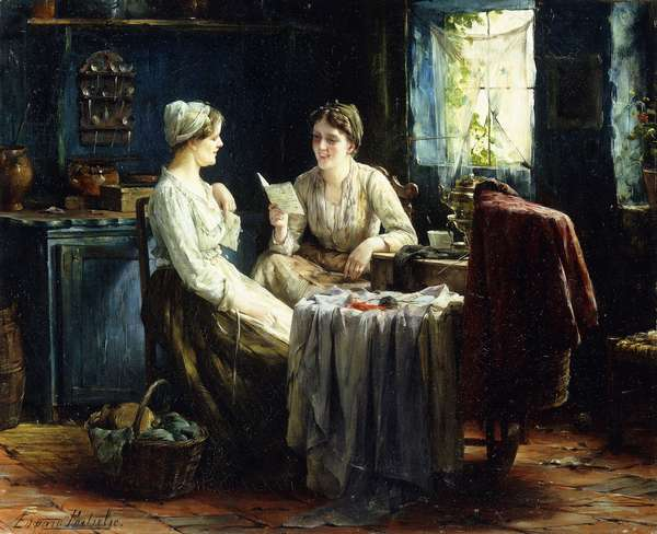 The Letter,  (oil on canvas)