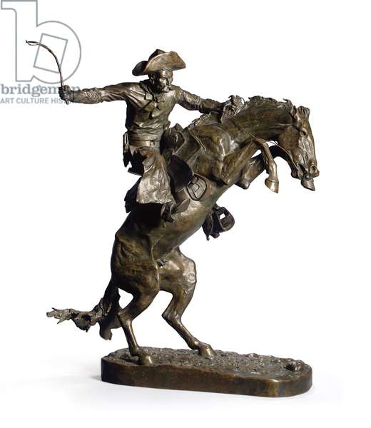 The Broncho Buster, 1895 (bronze with brown patina)