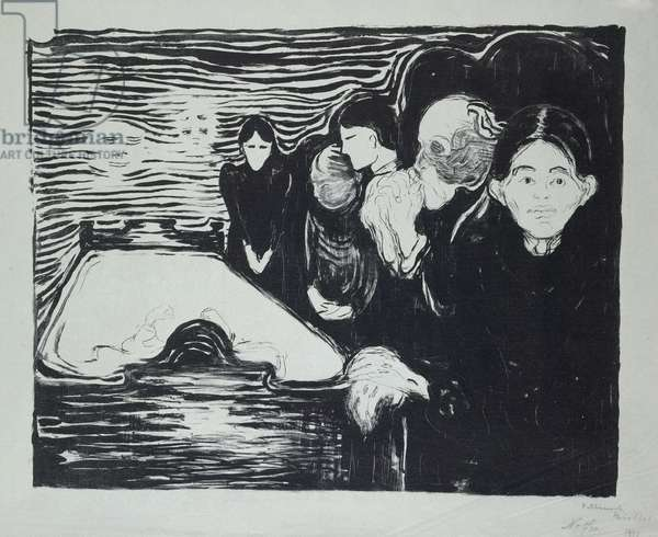 Death Throes, 1896 (litho)