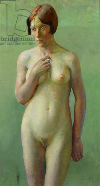 Standing female nude (oil on canvas)