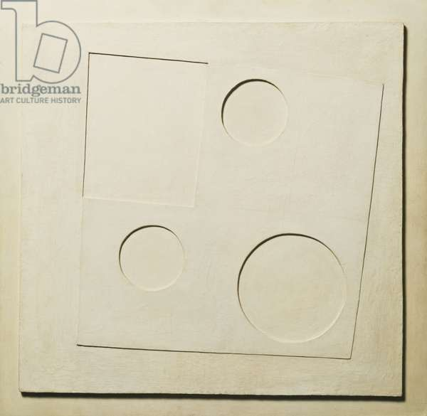 1934 (white relief, square and circles)