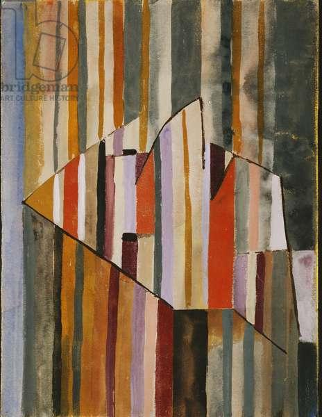 The Pyramid Clown; Der Clown Pyramidal, 1929 (gouache on paper)