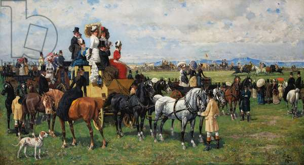 The Derby Reale, after 1880 (oil on canvas)