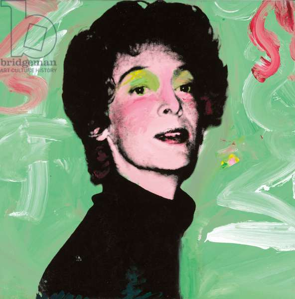 Marella Agnelli, 1973 (synthetic polymer and silkscreen inks on canvas)