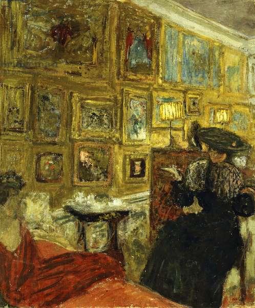 A Visit to the Hessels; La Visite Chez les Hesel, c.1908 (peinture a la colle on canvas)