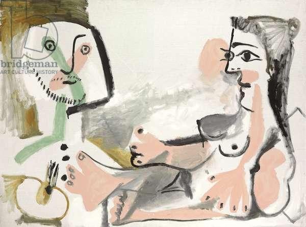 The Painter and His Model; Le Peintre et son modele, 1964 (oil on canvas)