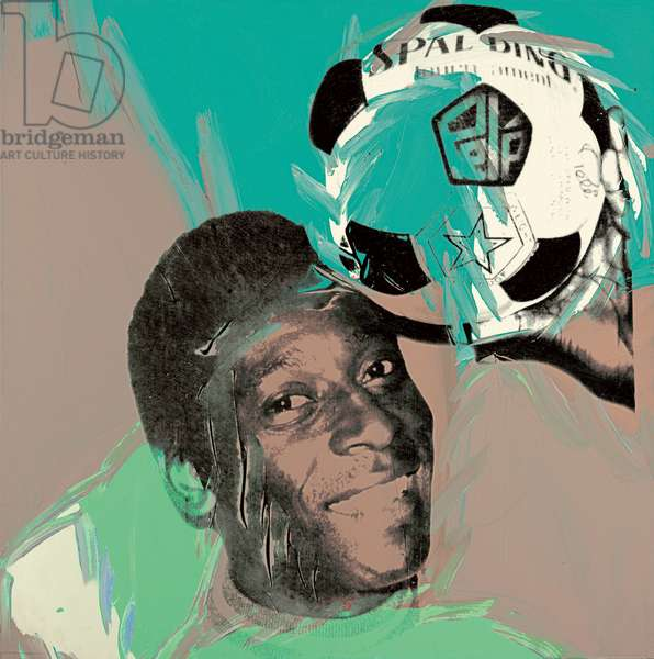Pele, 1978 (synthetic polymer and silkscreen ink on canvas)