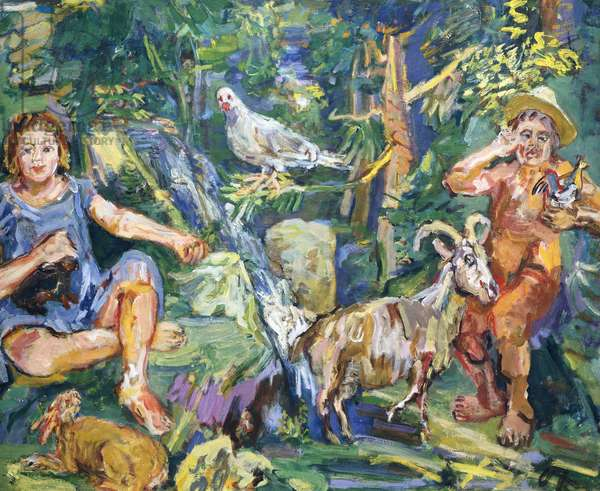 Capriccio (Tales in the Forest), 1943 (oil on canvas)