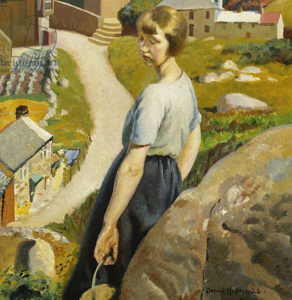 The Girl, Zennor, (oil on canvas)