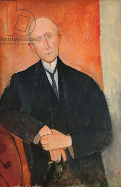 Man on orange background, 1918 (oil on canvas)