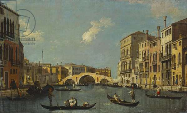 The Cannaregio, Venice (oil on canvas)