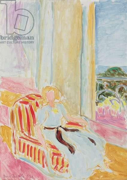 Girl in a White Dress, Sitting Near the Window; Jeune fille en robe blanche, assise pres de la fenetre, 1942 (oil on canvas)