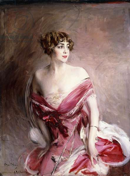 Portrait of Mlle. de Gillespie, La Dame de Biarritz, 1912 (oil on canvas)