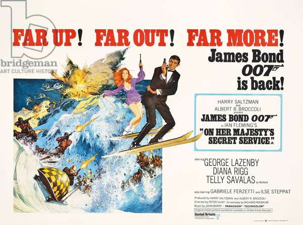 Poster advertising the James Bond film 'On Her Majesty's Secret Service' (1969), 1969 (colour lithograph)