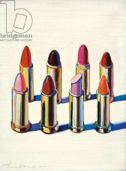Lipsticks, 1964 (oil on canvas)