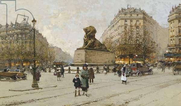 The Lion of Belfort; Le Lion de Belfort,  (gouache)