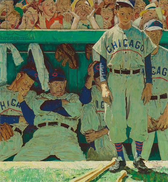 The Dugout, 1948 (oil on canvas)