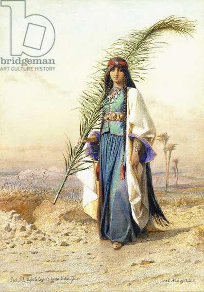 Fadimeh, The Daughter of Aghile Agha,  (watercolour on card)