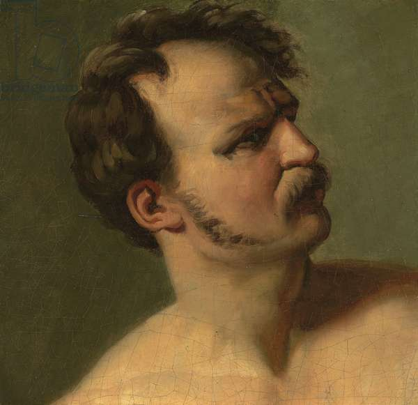 Study of a Man in Profile, c.1812 (oil on canvas)