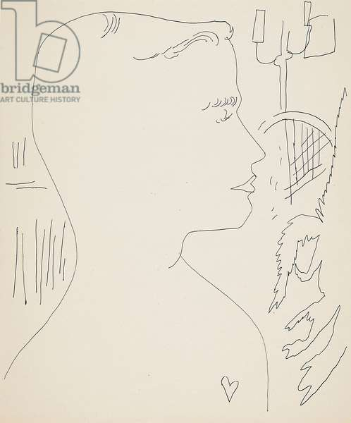 Boy with Heart, c.1954 (ink on paper)