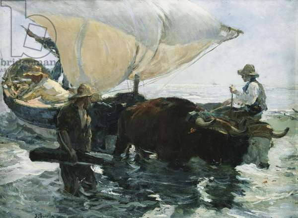 The Return from Fishing, 1893 (oil on canvas)