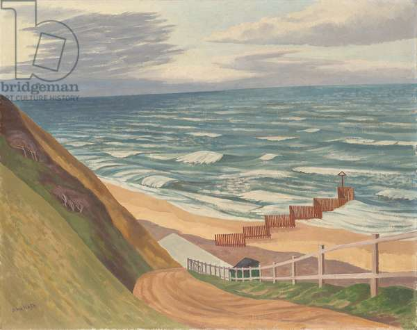 The Breakwater, c.1955-65 (oil on canvas)