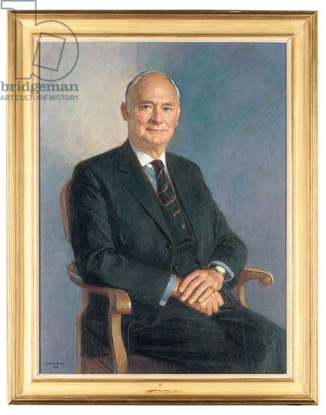 Portrait of Henry Lambert, seated, 1993 (oil on canvas)