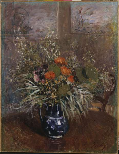 A Bouquet of Flowers, 1875 (oil on canvas)
