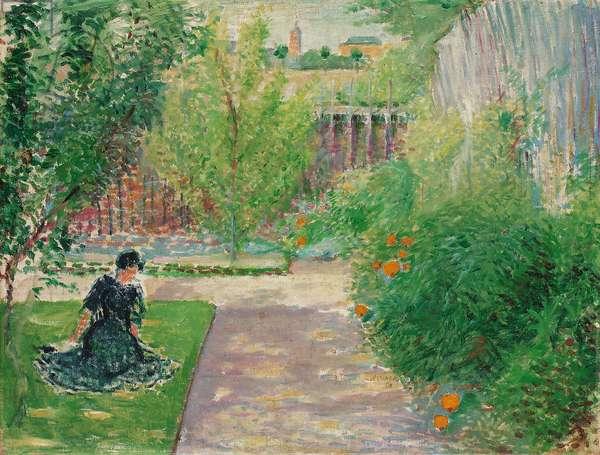 Sunny Garden, 1908 (oil on canvas)