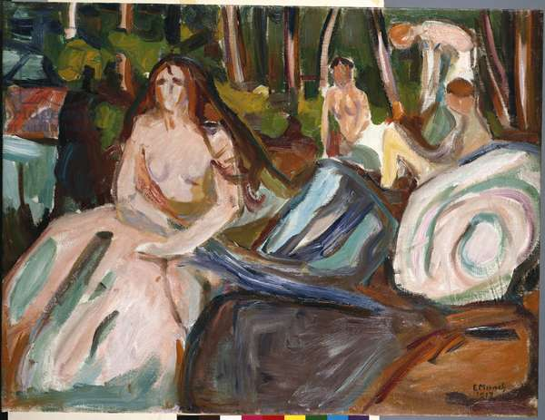 Bathers, 1917 (oil on canvas