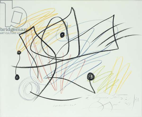 Composition (wax crayon on paper)
