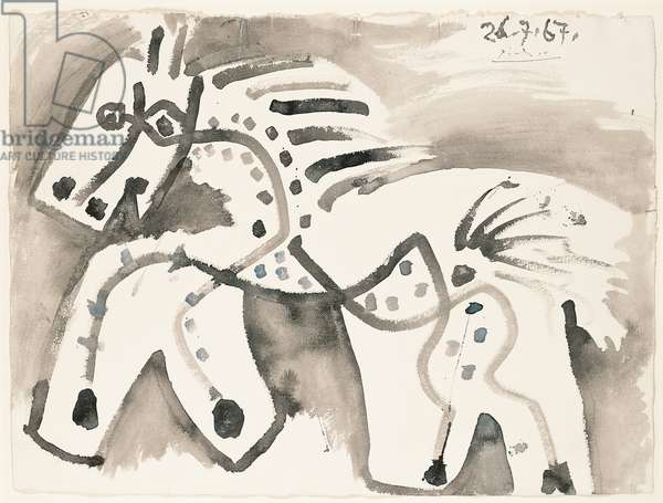 Horse, 1967 (w/c & wash on paper)