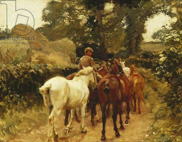 On the Road, 1907 (oil on canvas)