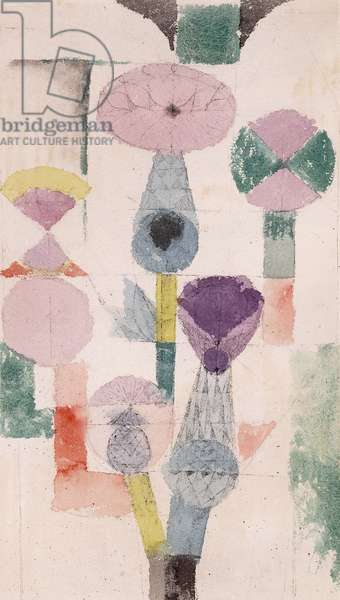 Thistle Bloom; Distelblute, 1918 (watercolour and ink on paper laid down on card)