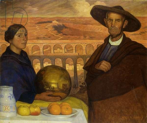 Aquaduct of Segovia (oil on canvas)