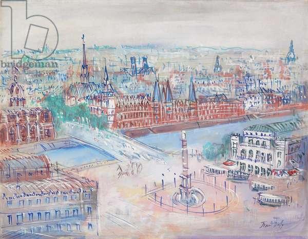 Le Pont au Change  (gouache and watercolour on paper)