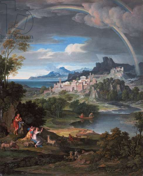 Heroic landscape with rainbow, 1806 (oil on canvas)