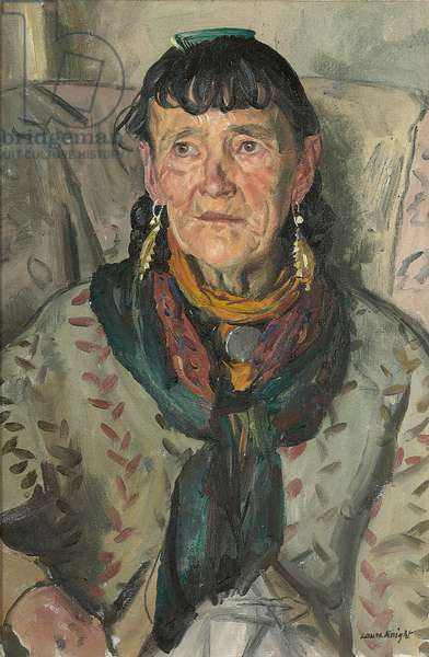 Old Gypsy Woman, 'Granny Smith', 1938 (oil on canvas)