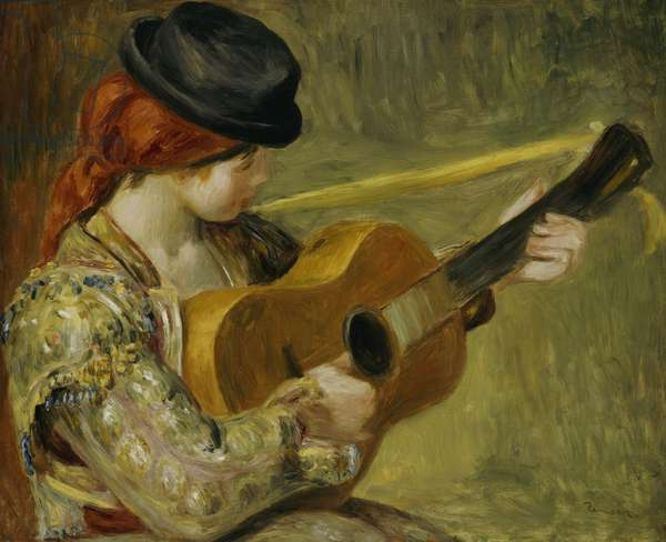 Girl with a Guitar, 1897 (oil on canvas)