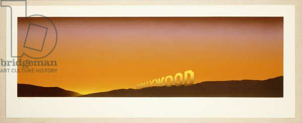 Hollywood, 1968 (screenprint in colours)