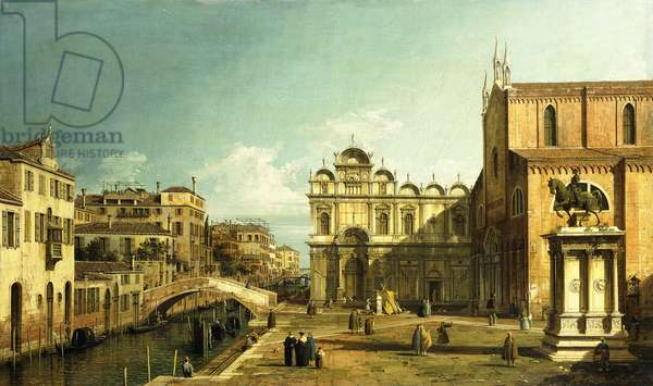 The Campo Santi Giovanni e Paolo, Venice, 1738-9 (oil on canvas)