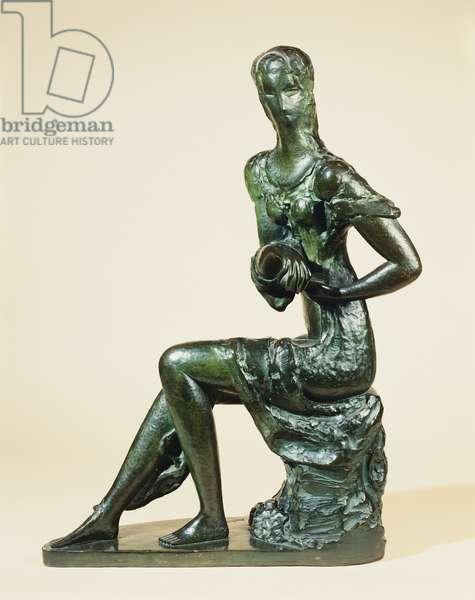 'Ma' Meditation, 75cm high, 51cm width (bronze with dark patina)
