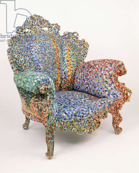Proust Armchair, 1978 (painted carved wood, painted upholstery)